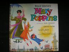 MARY POPPINS LIVRE DISQUE DU PETIT MENESTREL AVEC ILLUSTRATION COMPLET BON ETAT