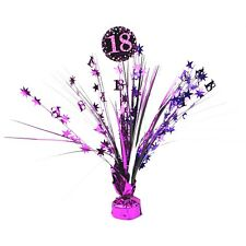 PINK CELEBRATION 18TH BIRTHDAY PARTY FOIL SPRAY TABLE DECORATION CENTREPIECE
