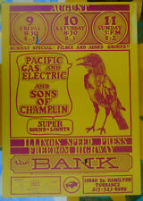 1968-Original Cardboard Concert Poster-The Bank-Sons/P G & E-Freedom Highway-