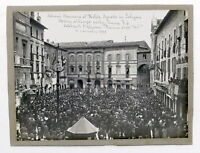 WWI - Fotografia Solenni Onoranze al Milite Ignoto in Foligno - 4 novembre 1921