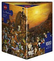 Heye Cats in ParisHartmann Triangular Puzzles 1000-Piece, Multi-Colour