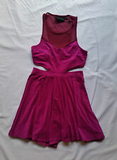 As New Minkpink Purple Cutout Mesh Dress Skater Party Club Event Size S