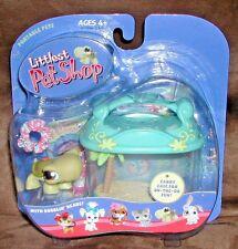 Littlest Pet Shop 2004 HTF TURTLE w lei & Tank, Aquarium 8