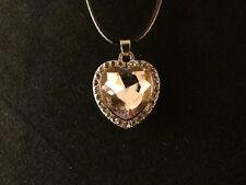 Anhänger 24 Karat Vergoldet Herz Necklace Kette Liebe Love Lila Strass