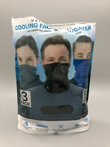 Arctic Cool Multi Functional Cooling Face Mask Gaiter Packs of 3 NOB