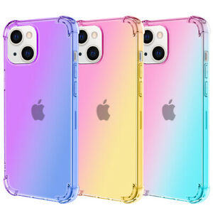 Case For Apple iPhone 13 12 Pro Max Mini Shockproof Soft Silicone Gradient Cover