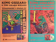 Music Poster Promo King Gizzard and the Lizard Wizard 12 Bar Bruise Willoughby's