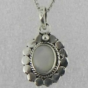"""925 Sterling Silver Moonstone Handmade Necklace 18"""" Chain Festive Gift PS-2026"""