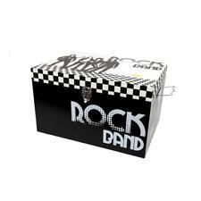 Truu Design Rock Band Storage Set of 3 Engineered Wood Black