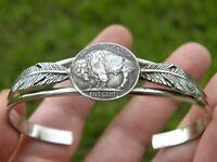 Buffalo Indian Nickel Coin feather wing Bracelet nice gift for bills bulls fans