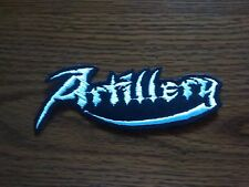 ARTILLERY,IRON ON  WHITE EMBROIDERED PATCH