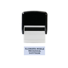 Personalised Self Inking Rubber Stamp Custom Business Name Address SMALL 14x38mm