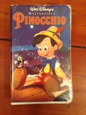 Vintage Walt Disney Masterpiece PINOCCHIO / VHS TAPE / Restored Copy