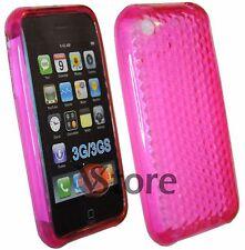 Cover Custodia Silicone Gel TPU Fuxia Per iPhone 3/3G/3GS + Pellicola Display