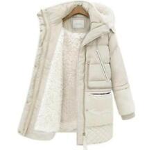 2017 Women's Hooded Warm Snow Overcoat Fleece Jacket Outwear Padded Winter Coat