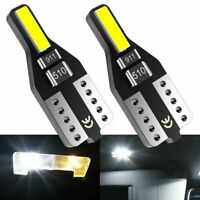 10PCS T10 Wedge 7020SMD Parker Number Plate LED Bulbs W5W 194 168 CANBUS WHITE