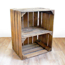 VINTAGE INDUSTRIAL STYLE WOOD SIDE TABLE - Upcycled Vintage Used Fruit Crates