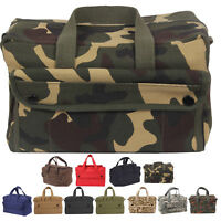 Canvas Tool Bag Heavy Duty Carry Tote Storage Work Utility Mechanics Military