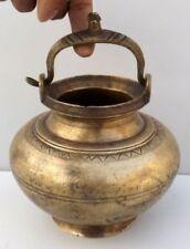 Old Antique Carved Brass Water Pot Antique Shape Brass Himalaya Water Pot Kalash
