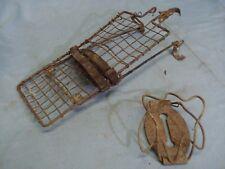 cestino portapacchi bici epoca in ferro 2 pezzi da restaurare