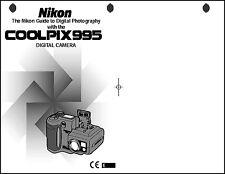 Nikon CoolPix 995 Digital Camera User Guide Instruction  Manual