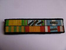 Légion Etrangère  Placard 6 Rubans Médailles Militaires Guerre d'Indochine Laos