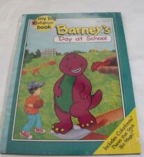 Vintage 1993 Barney Dinosaur My Big Colorforms Book Day at School