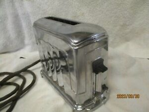 Vtg Chrome McGraw  Toastmaster 1A4 Single Slice Toaster Works ART DECO MCM