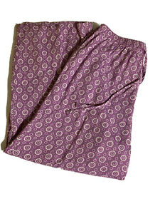 NWT, Orvis Women's Crop Pant Purple Block Print Rayon Casual Size Small Ret. 59.