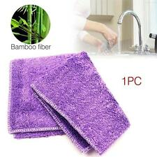 1X Bamboo Fiber Cleaning Car Wash Soft Towels Rags Hand Kitchen Cloth 23*18cm GA