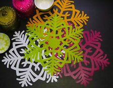 Free Shipping. 2pcs Snow Flake Eco Placemat Doily Tablemat.Wipe Clean,Waterproof