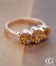Topaz Rose Gold Engagement Fine Rings