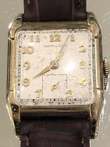 Antique Hamilton Lambert Wrist Watch Wind Up Workd & Runs Strong!