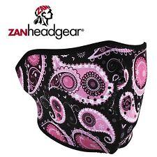 Zan Headgear Neoprene Half Face Mask Purple Paisley Mens Womens Boys Girls Cold