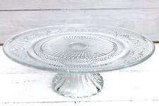 Gemusterte Tortenplatte auf Fuss Etagere Glas Durchmesser: 25 cm