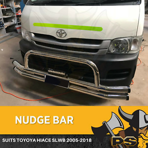 Chrome Nudge bar to suit Toyota Hiace (SLWB) 2005-2018 Brand New Front Bar