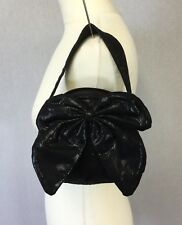 Suzy Smith Ladies Small Black Glitter Wristlet Evening Bag