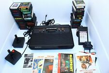 Vintage Atari 2600 Vader Console w/ 37 Games and Manuals *TESTED, WORKING*