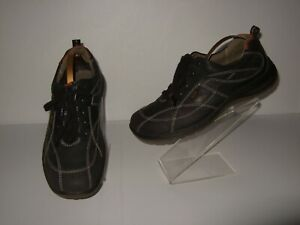 Ecco Walkathon Tie Black Leather Casual Oxford Shoes Sneakers Mens Sz.41 / 7-7.5