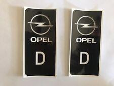 D-Sticker Auto Kennzeichen OPEL Logo OPEL EU black Kfz  Insignia OPC