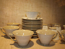 Made Occupied Japan Set of 6 Cups and Saucers Coffee Tea Vintage Fuji Pottery