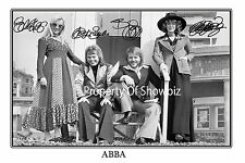 ABBA SIGNED AUTOGRAPH PHOTO POSTER - GREAT PIECE OF MEMORABILIA