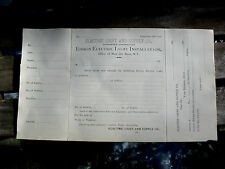 ORIG 1880s EDISON ELECTRIC CO. 29 W 26 ST NYC ORDER FORM FOR ELECTRIC LIGHTING