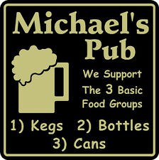 New Personalized We Support Beer Sign # 7 Bar Pub Gift Custom Usa Made