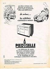 PUBLICITE  1958   PIED SELLE  la cuisinière mixte