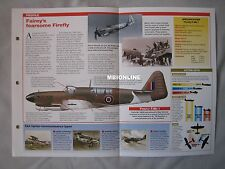 Aircraft of the World Card 45 , Group 10 - Fairey Firefly