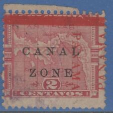PANAMA CANAL ZONE 11 SHIFTED OVERPRINT UNLISTED ! ERROR