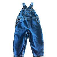 VINTAGE Gymboree Overalls Jean Denim  - Size Small 18 24 Blue Patch Coveralls