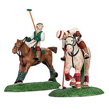 """DEPT 56  DICKENS VILLAGE """"POLO PLAYERS"""" SET of 2 HORSES #58529 * FREE SHIPPING"""