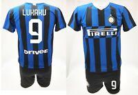Completo Lukaku Inter 2020 + Pantaloncino ufficiale maglia Divisa 2019 Romelu 9